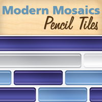 Modern Mosaics - Pencil Mosaic Tile Wall Decals