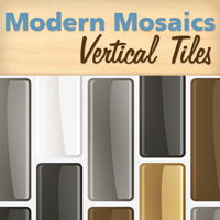 Modern Mosaics - Vertical Mosaic Tile Wall Decals