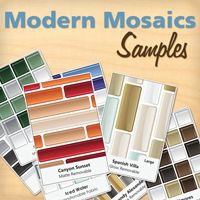 Modern Mosaics - Mosaic Wall Decal Samples