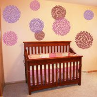 Giant Mums - Set of 12 - Wall Decals