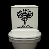 Mushroom Cloud - Toilet Decals - Wall Decals
