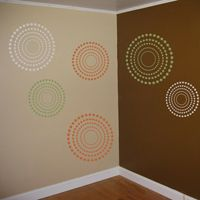 Fun Circles and Dots - 3 Colors - Set of 9 - Wall Decals