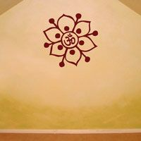Om Symbol - Flower - Yoga - Meditation - Wall Decals
