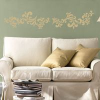 Pretty Ornate Swirls - Set of Six - Wall Decals
