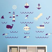 Out To Sea - Printed Wall Decals