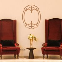 Oval Frame - Wall Decals