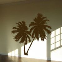 Leaning Palm Trees - Set of 2 - Wall Decals