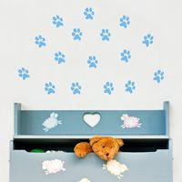 Animal Paw Prints - Set of 16 - Wall Decals