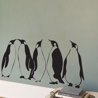 Penguins - Set of 5 - Wall Decals
