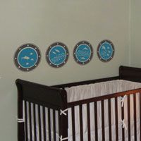 Portholes - Set of 4 - Wall Decals