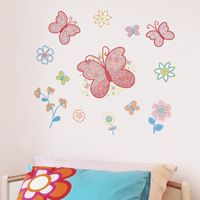 Pretty Butterfly Garden - Set of 50 - Printed Wall Decals
