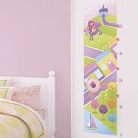 Princess, Castle & Unicorn Growth Chart - Printed Wall Decals