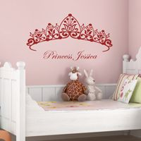 Princess Headboard - Girls Room - Wall Decals