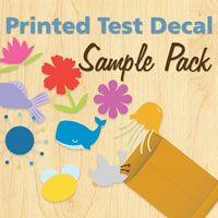 Printed Test Decal Sample Pack - Sample Wall Decals