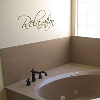 Relaxation - Peaceful - Wall Words & Decals