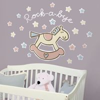 Rock-A-Bye Baby - Quote - Printed Wall Decals