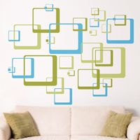 Retro Rounded Squares - Set of 54 - Wall Decals
