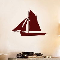 Sailboat - Vinyl Wall Decal