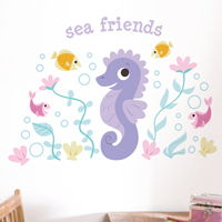 Sea Friends - Personalized Monogram - Printed Wall Decals