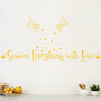 Season Everything with Love - Wall Decals