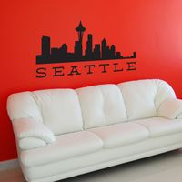 Seattle Skyline - Wall Decals