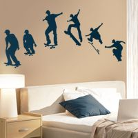Skaters - Series of 6 Poses - Wall Decals