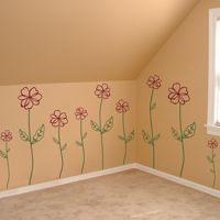 Sketched Flowers - Set of 15 - Wall Decals