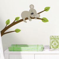 Sleepy Koala on a Branch - Printed Wall Decals