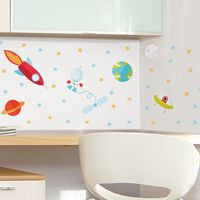 Mini Astronaut Space Adventures - Printed Wall Decals