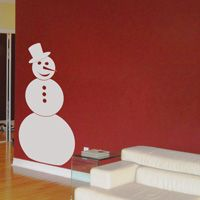 Snowman - Winter - Holiday - Wall Decals