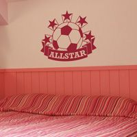 Soccer All Star - Customizable - Sports - Wall Decals