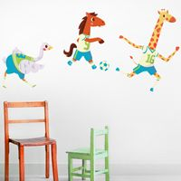 Fun & Playful Soccer Animals - Printed Wall Decals