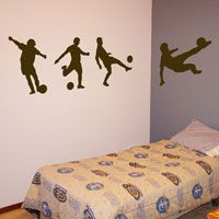 Soccer Players - Series of 4 - Sports Wall Decals