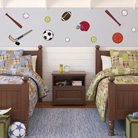 Sports Fan - Printed Wall Decals
