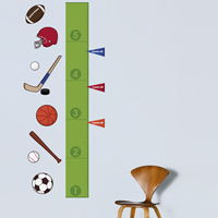 Sports Growth Chart - Printed Wall Decals