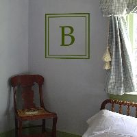 Simple Square Monogram - Family Initial - Wall Decals