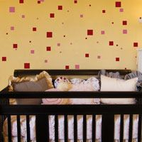 Squares - Set of 192 - Shapes - Wall Decals