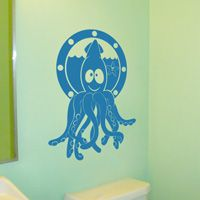 Squid and Starfish Friends - Wall Decal