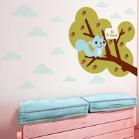 Squirrel Pal on a Branch - Hi Friend - Printed Wall Decals