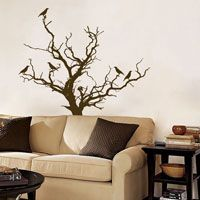 Stark Tree with Birds Decal - Wall Decal