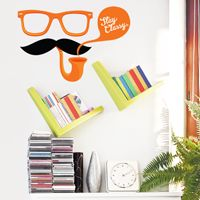 Stay Classy - Moustache, Glasses & Pipe - Printed Wall Decals
