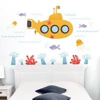 Submarine Under the Sea - Underwater Scene - Printed Wall Decals