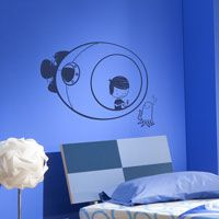 Submarine Explorer with Sea Creature - Wall Decals