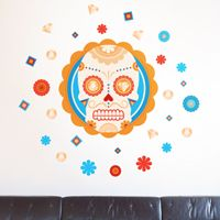 Sugar Skull and Diamonds - Printed Wall Decals