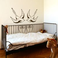 Swallows - Birds - Set of 2 - Wall Decals