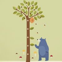 Tall Acorn Tree Growth Chart - Printed Wall Decals