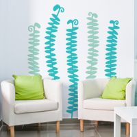Tall Grassy Leaves - Set of 5 - Wall Decals