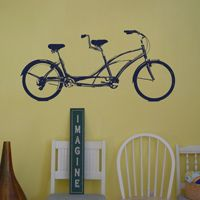 Tandem Bike - Bicycle Built for Two - Wall Decals