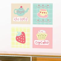 Tea Party - Printed Wall Decals