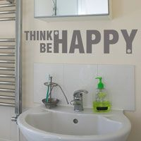 Think Happy, Be Happy - Wall Decals